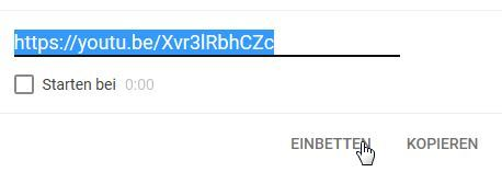 youtube einbetten