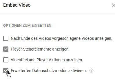 youtube embed funktionen